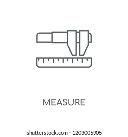 Measure linear icon. Measure concept stroke symbol design. Thin graphic elements vector illustration, outline pattern on a white background, eps 10.