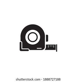 measure tape icon symbol sign vector