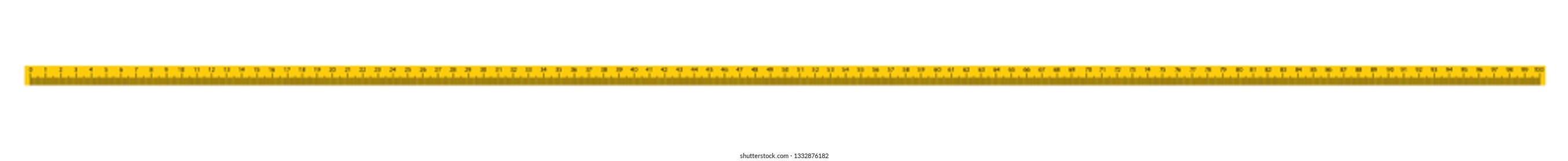 Measure Tape ruler metric measurement. 100 centimeters metric vector ruler with yellow and black color.