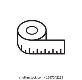 Measurement tape vector style flat trendy
