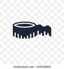 Measurement transparent icon. Measurement symbol design from Sew collection. Simple element vector illustration on transparent background.
