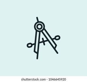 Measuring accuracy icon line isolated on clean background. Measuring accuracy icon concept drawing icon line in modern style. Vector illustration for your web site mobile logo app UI design.