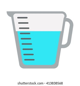 Measuring cup icon.