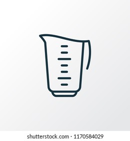 Measuring cup icon line symbol. Premium quality isolated kitchen jug element in trendy style.