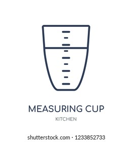 Measuring cup icon. Measuring cup linear symbol design from Kitchen collection. Simple outline element vector illustration on white background