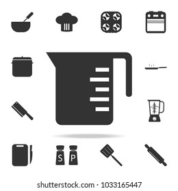 measuring cup icon. Set of Chef and kitchen  element icons. Premium quality graphic design. Signs and symbols collection icon for websites, web design, mobile app on white background