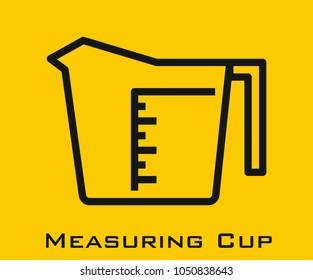 Measuring Cup vector icon