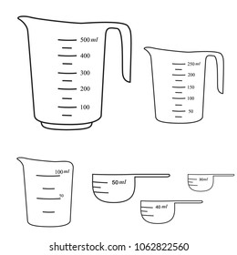 Measuring cups. Vector