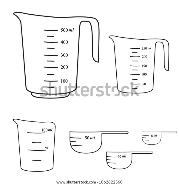 Different sizes of measuring cups