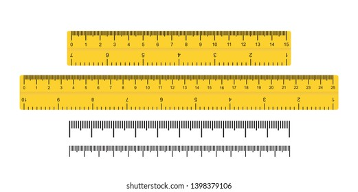 Measuring scale, markup for rulers. Vector illustration icon