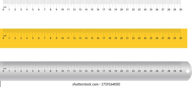 Measuring Scale, Yellow Scale, Steel Scale, Centimeter, cm