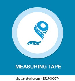 measuring tape icon, weight measurement illustration, scale symbol