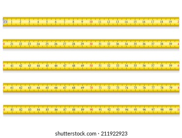 measuring tape for tool roulette vector illustration EPS 10 isolated on white background