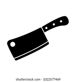 meat cleaver - knife icon vector