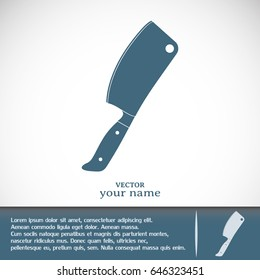Meat cleaver knife - vector icon