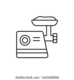 Meat grinder, meat icon. Simple line, outline vector batcher icons for ui and ux, website or mobile application