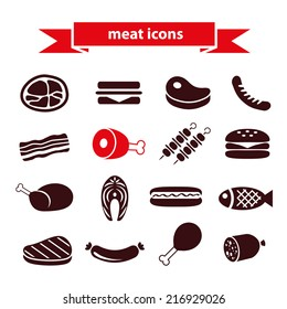 meat icons