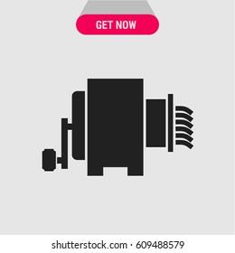 Meat Mincer Vector Icon. Old-fashioned meat mincer symbol. Simple, modern flat vector illustration for mobile app, website or desktop app