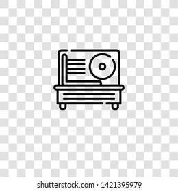 meat slicer icon from  collection for mobile concept and web apps icon. Transparent outline, thin line meat slicer icon for website design and mobile, app development
