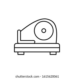 Meat slicer, meat icon. Simple line, outline vector batcher icons for ui and ux, website or mobile application