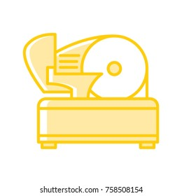 Meat slicer vector icon