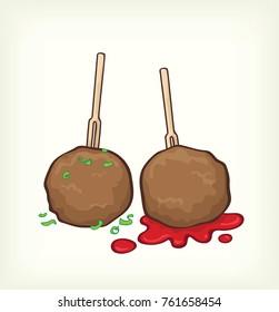 meatball design vector