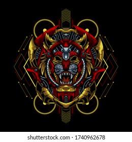 Mecha Tiger vector illustration artwork
