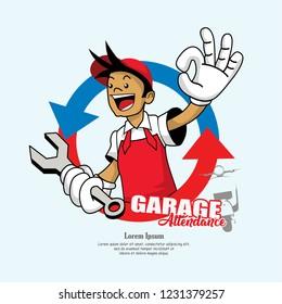 mechanic cartoon vector