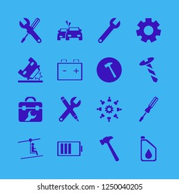 mechanic icon. mechanic vector icons set wrench, screw, work group gear and gear