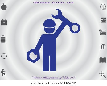 mechanic, icon, vector illustration eps10