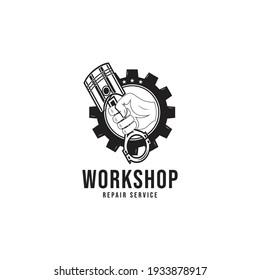 Mechanic logo design icon, vector illustration