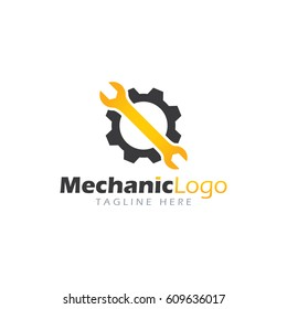 Mechanic logo design template