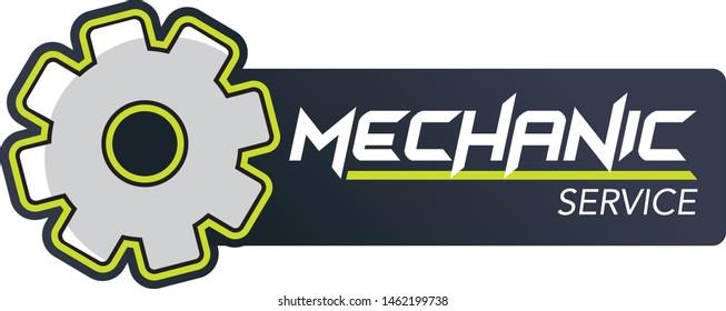 Mechanic service maintenance logo design vector