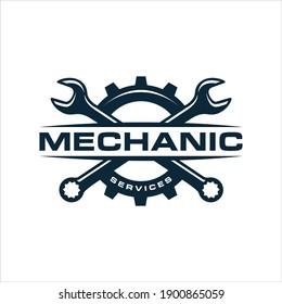 mechanic services, auto repair logo. design template, vector illustration.