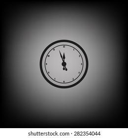 mechanical clock. icon. vector design