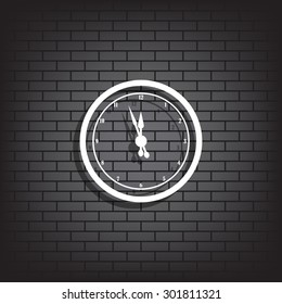 mechanical clock. icon. vector design