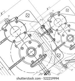 Mechanical Engineering Drawing Art