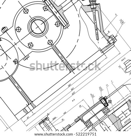 Mechanical Engineering Drawing Engineering Drawing Background Stock