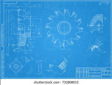 Mechanical engineering drawings on blue background vectores en stock mechanical engineering drawings on blue background cutting tools milling cutter technical design malvernweather Image collections
