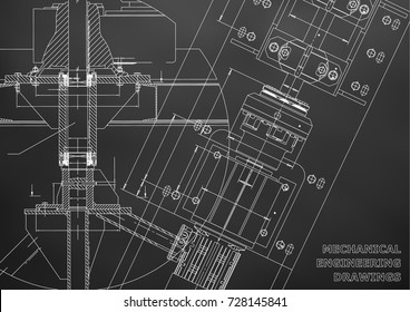 Engineering drawing images stock photos vectors shutterstock mechanical engineering drawings technical design blueprints black background malvernweather Images