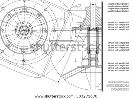 Mechanical Engineering Drawings Vector Engineering Drawing Stock