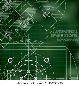 Mechanical engineering. Technical illustration. Backgrounds of engineering subjects