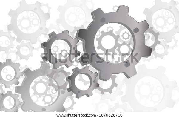 Mechanical Gear Set Background Theme Wallpaper Stock Vector