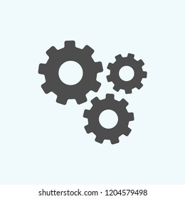 Mechanical gears icon