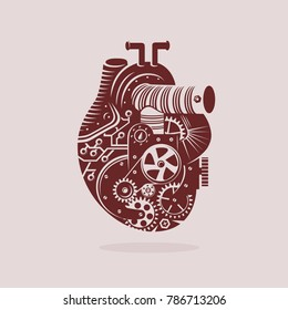 Mechanical heart Illustration template