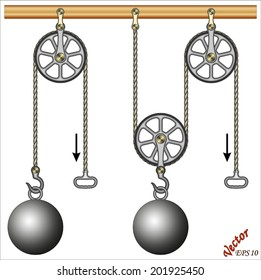 Mechanical Power - Loaded Movable Pulleys