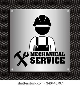 mechanical service design, vector illustration eps10 graphic