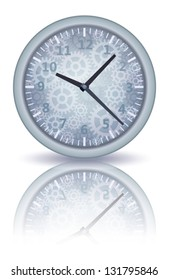 mechanical watch with gears vector illustration