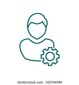 Mechanism Icon Vector.Management