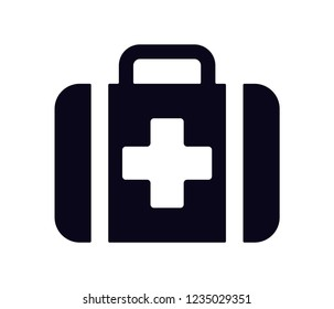 med kit  icon vector